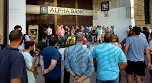 Corrida bancária na Grécia