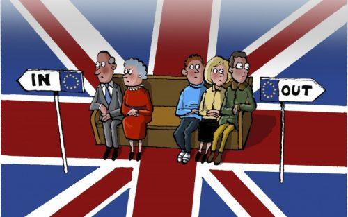 Diferentemente desta ilustração, os jovens votaram a favor da permanência na UE, e os idosos pela saída
